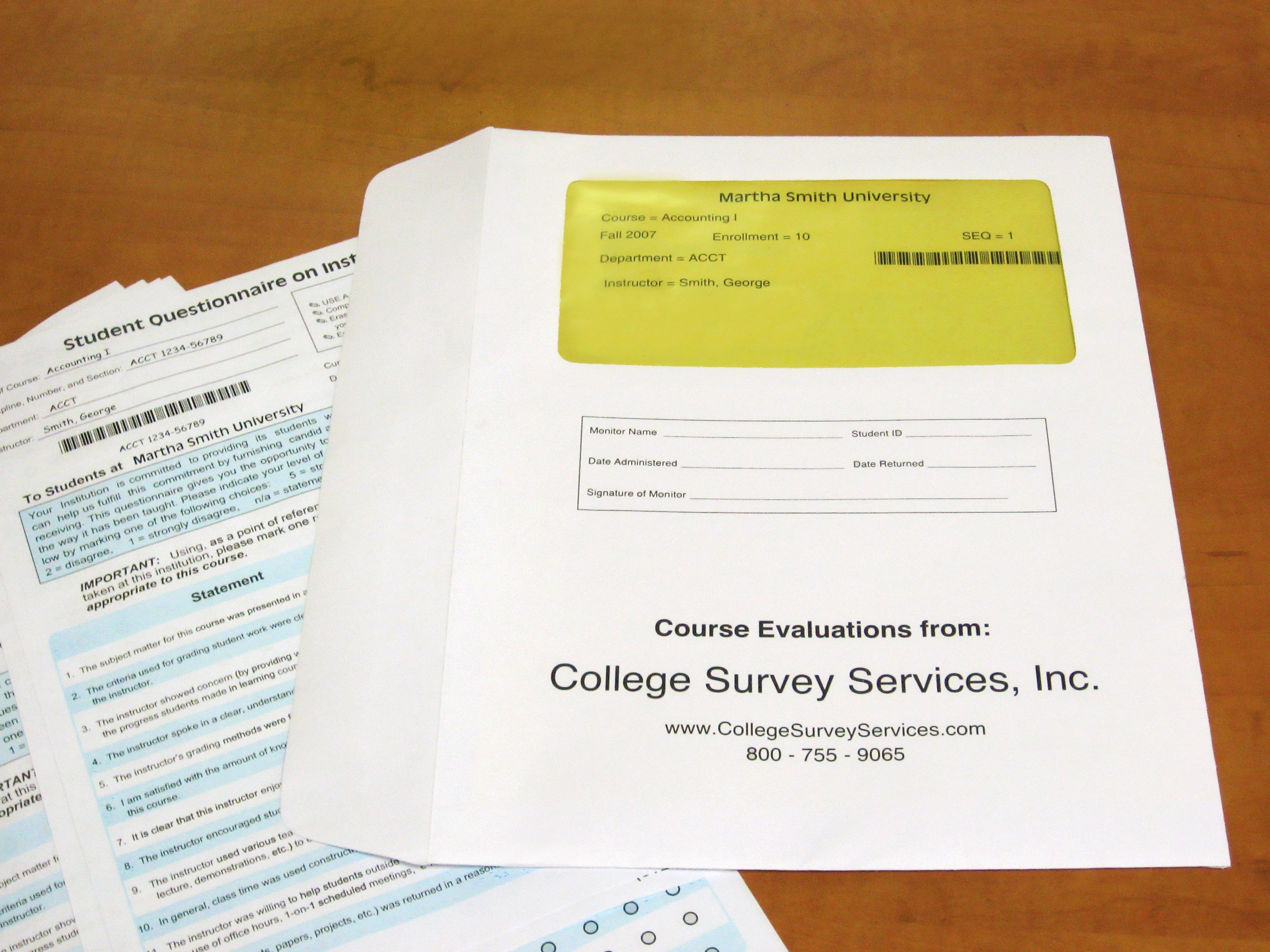 paper survey delivery college survey services the course instructor information counted sorted and placed in envelopes your precise instructions included college survey services will